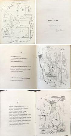 Libro Illustrato Masson - SIMULACRE. 7 lithographies originales. Dédicacé (1925)
