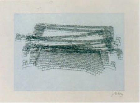 Litografia Kuitca - Sin título-2