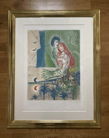 Litografia Chagall (After) -  Sirène au Poète