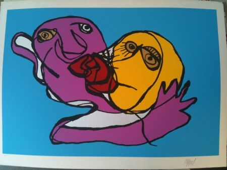Serigrafia Appel - Sky blue kiss