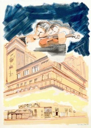 Serigrafia Rivers - Sky Music Over Carnegie Hall