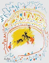 Litografia Picasso - Small bull fight