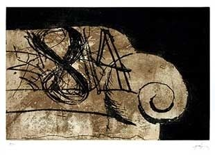 Incisione Tapies - Sofa