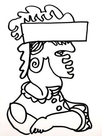 Litografia Lapicque - Soldat
