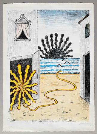 Litografia De Chirico - Sole e mare