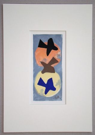 Litografia Braque (After) - Soleil et Lune I.