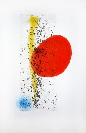 Incisione Miró - Soleil et vent