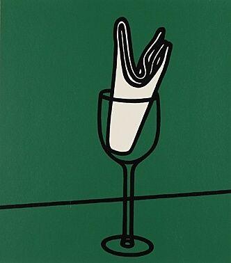 Serigrafia Caulfield - Son mouchoir me flottait sur le Rhin