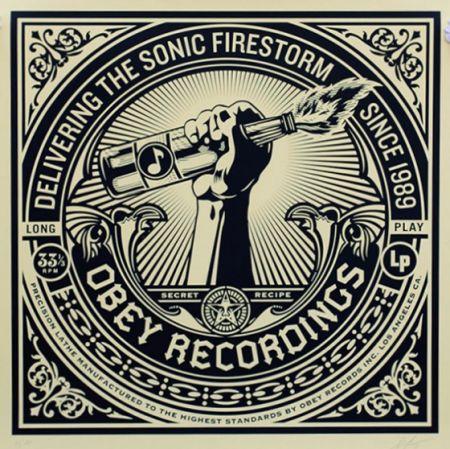 Serigrafia Fairey - Sonic Firestorm