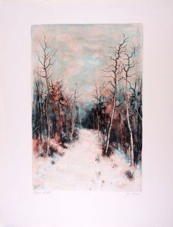 Litografia Gantner - Sous la Neige - Under Snow