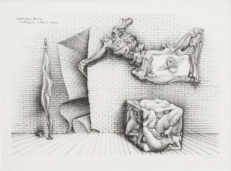 Litografia Bellmer - Souterrain No. 13
