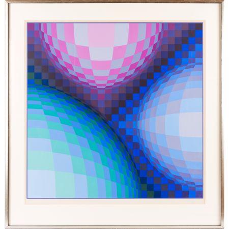Serigrafia Vasarely - Spheres