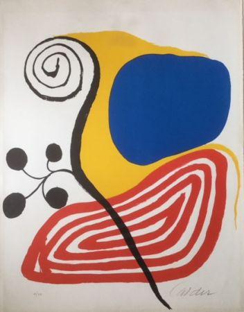 Litografia Calder - Spiral Composition