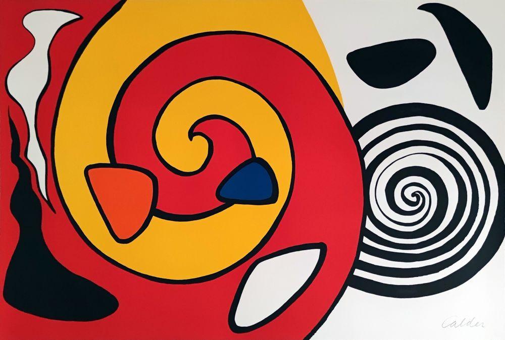 Litografia Calder - Spirale et turban