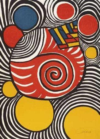 Litografia Calder - Spirales et pyramides