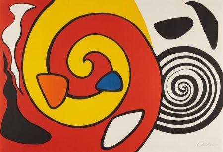 Litografia Calder - Spirals And Forms