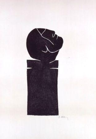Litografia Ubac - Stèle tête levée