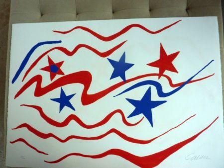 Litografia Calder - Stars And Stripes