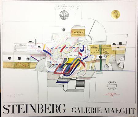 Litografia Steinberg - STEINBERG 1970. Galerie Maeght. Lithographie signée par l'artiste.