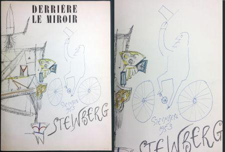 Libro Illustrato Steinberg - STEINBERG. (avec dessin original signé et daté). Derrière le Miroir 1953