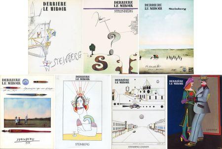 Libro Illustrato Steinberg - STEINBERG. Collection complète des 7 volumes de la revue DERRIÈRE LE MIROIR consacrés à Steinberg (de 1953 à 1980).
