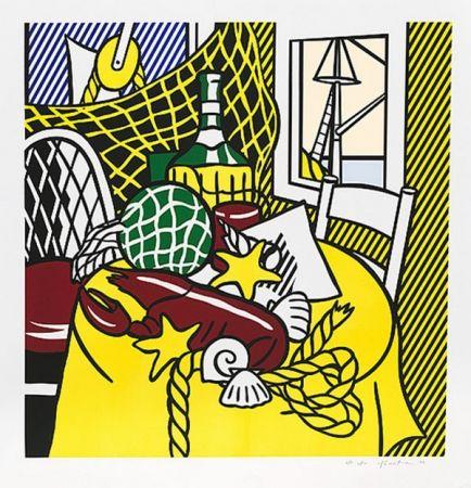 Serigrafia Lichtenstein - STILL LIFE WITH LOBSTER