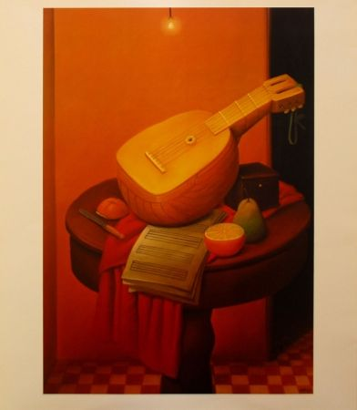 Litografia Botero - Still Life with Mandoline