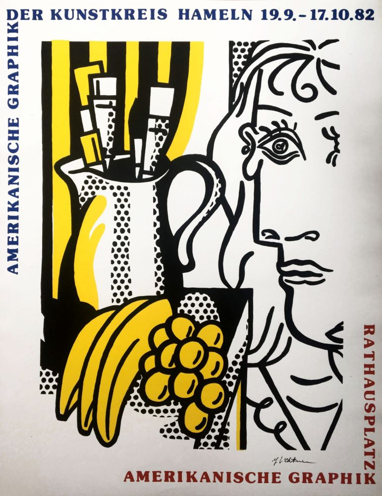 Serigrafia Lichtenstein - Still Life with Picasso (Hand Signed)