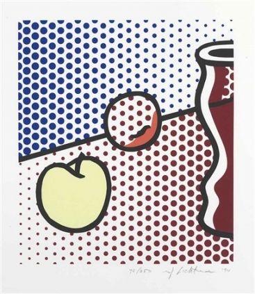Serigrafia Lichtenstein - Still Life with Red Jar