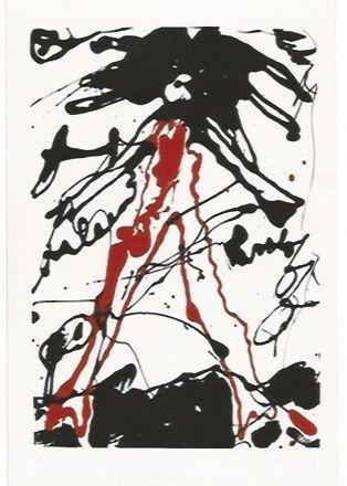 Serigrafia Oldenburg - Striding figure