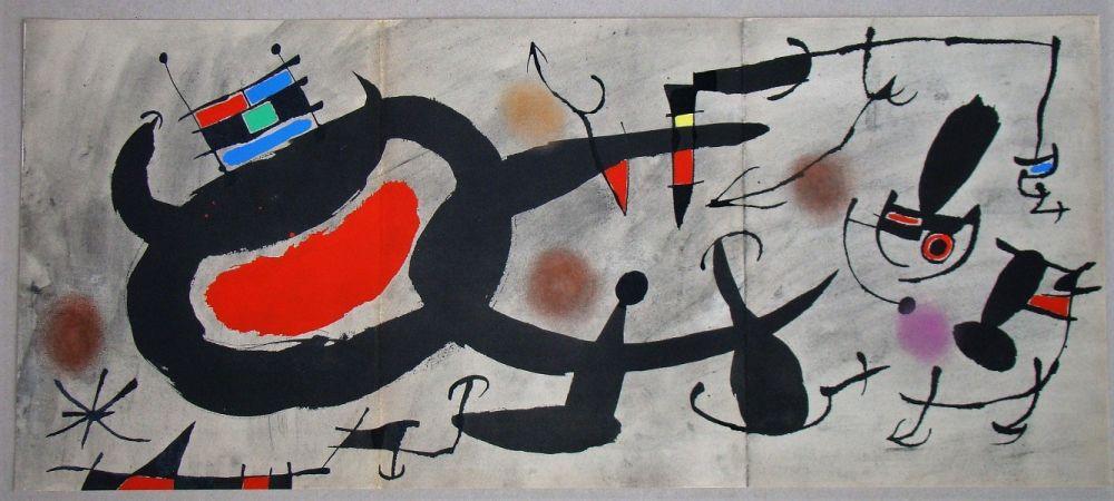 Pochoir Miró - Study for an engraving