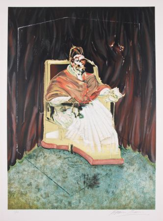 Litografia Bacon - Study for Portrait of Pope Innocent X after Velasquez