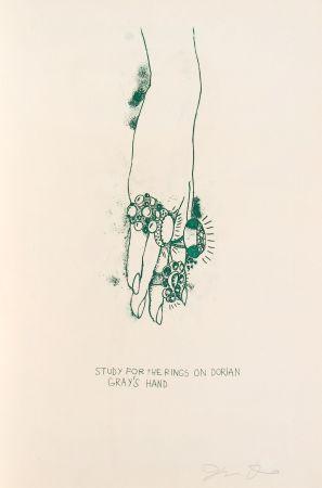 Litografia Dine - Study for the Rings on Dorian Gray's Hand