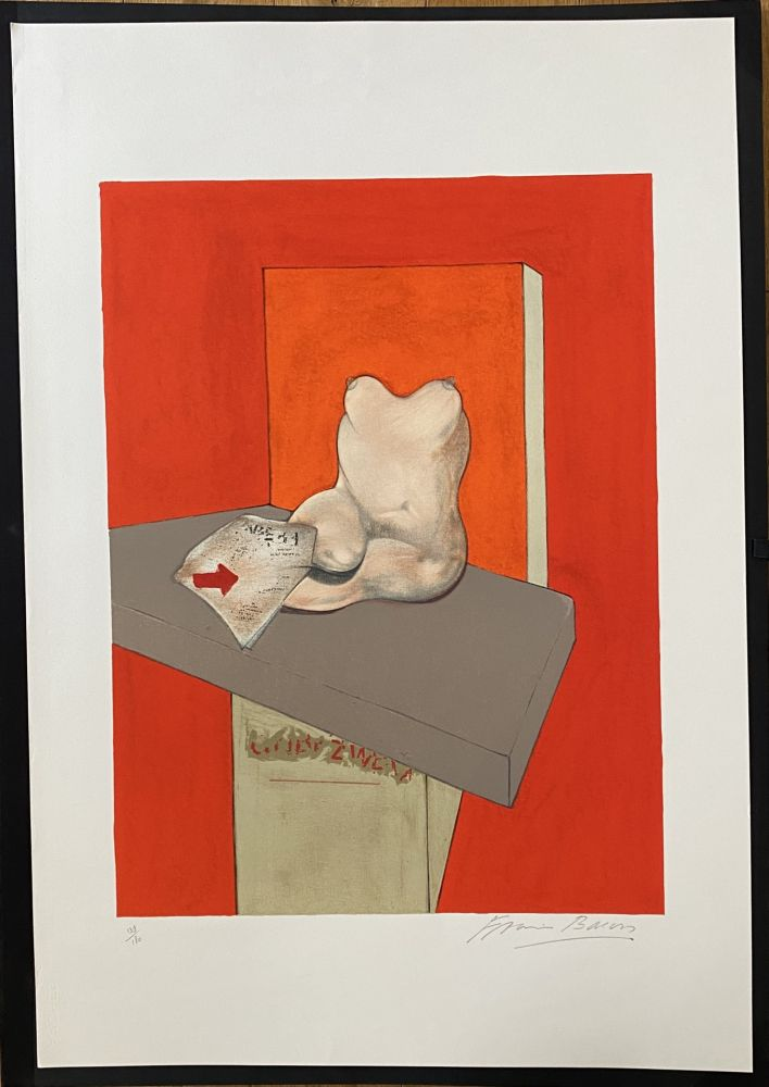 Litografia Bacon - Study of a human body after Ingres