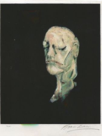 Litografia Bacon - Study portrait after the life mask of William Blake
