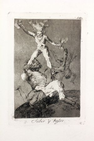 Acquaforte E Acquatinta Goya - Subir y bajar