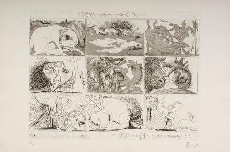 Acquaforte E Acquatinta Picasso - Sueno y Mentira de Franco