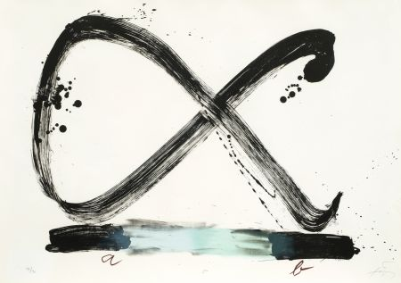 Litografia Tapies - Suite 63 X 90 (No 5)