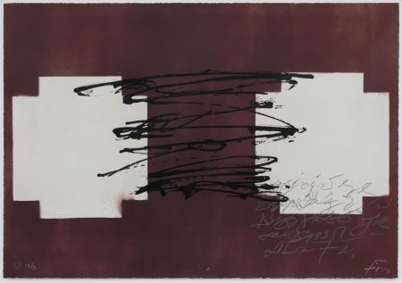 Litografia Tapies - Suite 63 X 90 (No 8)