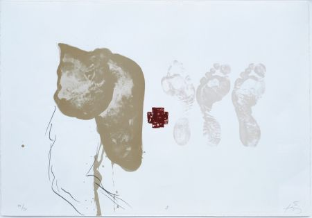 Litografia Tapies - Suite 63 X 90 (No 9)