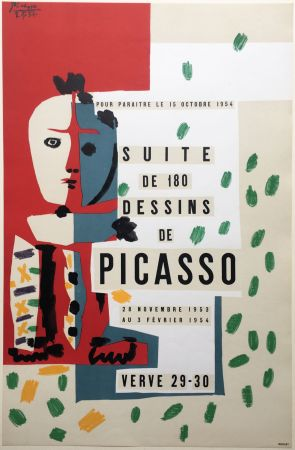 Litografia Picasso - SUITE DE 180 DESSINS. VALLAURIS VERVE 29-30. 1953-1954