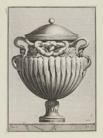 Incisione Petitot - Suite des vases tirée du cabinet de Monsieur...