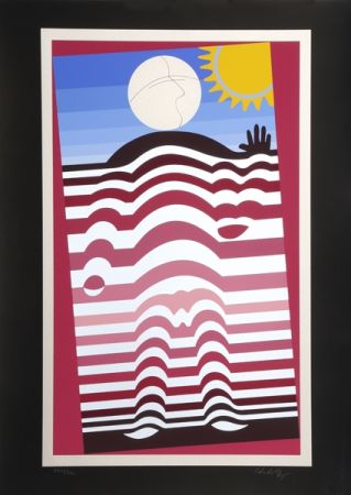Serigrafia Vasarely - Sunbather