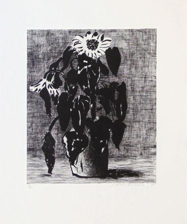 Acquaforte E Acquatinta Hockney - Sunflowers I