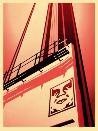 Serigrafia Fairey - Sunset & Vine Billboard