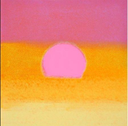 Serigrafia Warhol - Sunset(Unique)(Pink/yellow)