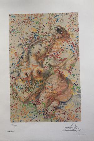 Litografia Dali - Suonatrice di Mandolino INTERGRAFICA 38X56