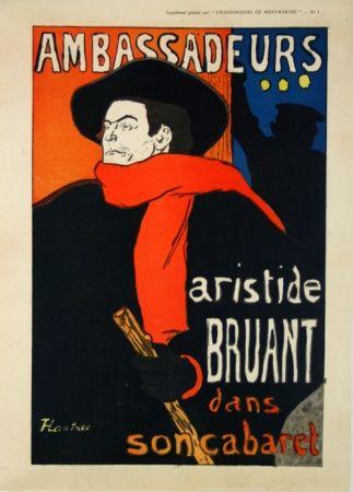 Manifesti Toulouse-Lautrec - Supplément  Chansonniers de Montmartre  Aristide Bruant