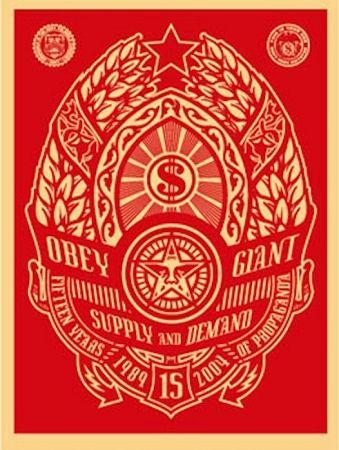 Serigrafia Fairey - Supply and Demand (Red)