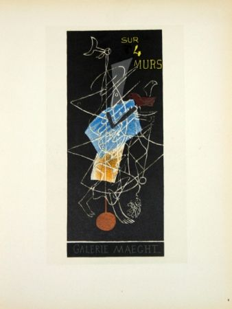 Litografia Braque - Sur 4 Murs